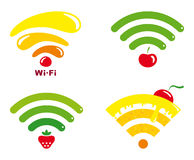 Wi-fi icons Stock Images