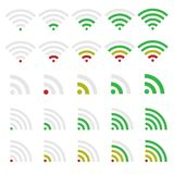 Wi-fi icons Royalty Free Stock Images