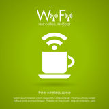Wi-fi internet cafe icon Royalty Free Stock Image