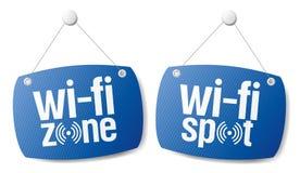 Wi-fi internet signal signs. Stock Image