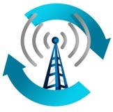 Wi-FI-Kontrollturmschleife-Abbildungauslegung lizenzfreie abbildung
