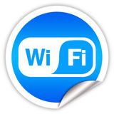 Wi-fi label Royalty Free Stock Images