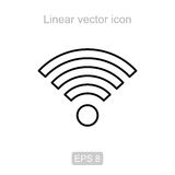 Wi-Fi. Linear  icon. Stock Images