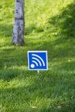 wi - fi outdoors w drewnie Zdjęcia Royalty Free
