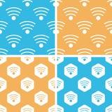 Wi-Fi pattern set, colored Stock Photography