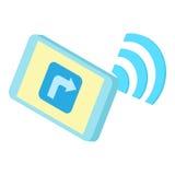 Wi Fi on phone icon, cartoon style. Wi Fi on phone icon in cartoon style isolated on white background. Technology symbol vector illustration Stock Image