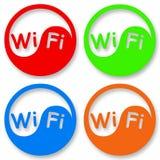 Wi-FI pictogramreeks Stock Foto's