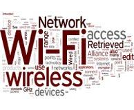 Wi-Fi - réseau sans fil Photo libre de droits