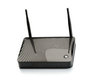 Wi-Fi router for hi-speed internet connections Stock Photos