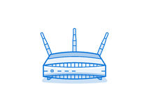 Wi-fi router icon Royalty Free Stock Image