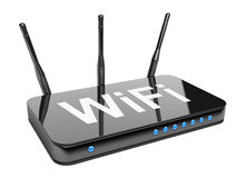 Wi-Fi Router. Isolated on a white background 3d image stock illustration