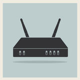 Wi-Fi Router on Retro Background Vector Stock Image