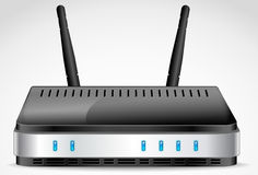 Wi-Fi Router vector. Wi-Fi Router detailed vector Royalty Free Stock Image