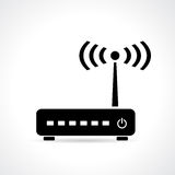 Wi-fi router. Wi fi router, vector illustration Royalty Free Stock Image
