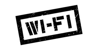 Wi-Fi rubber stamp. On white. Print, impress, overprint Stock Photos