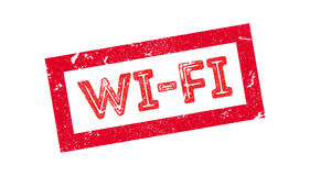 Wi-Fi rubber stamp. On white. Print, impress, overprint Royalty Free Stock Images