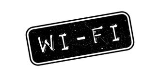 Wi-Fi rubber stamp. On white. Print, impress, overprint Stock Images