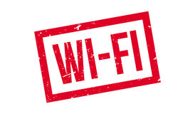 Wi-Fi rubber stamp. On white. Print, impress, overprint Royalty Free Stock Photography