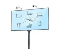 Wi-fi scheme Stock Image