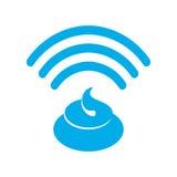 Wi-fi shit. WiFi turd. bullshit Wireless communication. bad conn Stock Images