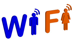 Wi fi symbol Royalty Free Stock Photo