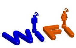 Wi fi symbol Royalty Free Stock Image