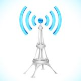 Wi-fi Tower. Illustration of communication tower with wi-fi wave Stock Photos