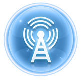 WI-FI tower icon ice Royalty Free Stock Photo