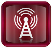 WI-FI tower icon red Royalty Free Stock Photo