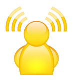 Wi-fi user icon Royalty Free Stock Photography
