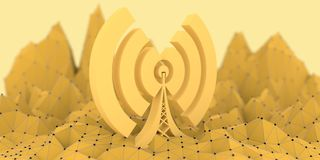 Wi Fi Wireless Network Symbol Stock Image