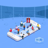 Wi-Fi zone at the airport Stock Images