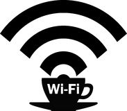 Wi - Fi zone. Internet Cafe. Stock Images