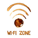 Wi-Fi zone sign Royalty Free Stock Image