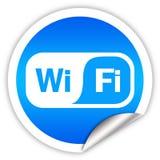 Wi-Fiaufkleber Lizenzfreie Stockbilder