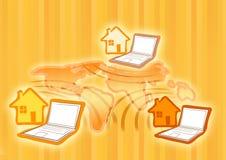 wi för begreppsfi-internet Royaltyfri Bild