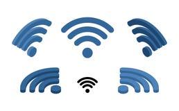 Wi isometrische het teken van FI Embleem voor draadloos netwerk Transmissie van vector illustratie