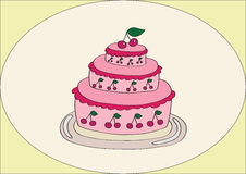 Wiśnia tort Fotografia Royalty Free