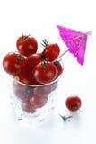 wiśnie szklane pomidorów Zdjęcie Royalty Free