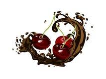 Wiśnie w czekoladzie Obraz Stock