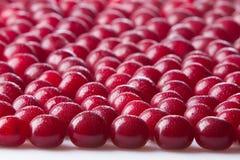 Wiśnie w kroplach rosa Fotografia Royalty Free