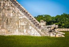 Wi się szczegół Majski Świątynny ostrosłup Kukulkan, Chichen - Itza, Meksyk Zdjęcie Royalty Free