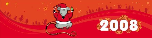 Wi vermelhos da bandeira do vetor do Natal Fotos de Stock Royalty Free