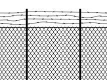 Wi?zienia ogrodzenie Bezszwowy deseniowy metalu ogrodzenia drutu wojskowy izoluje powiązania bezpieczeństwo granic perymetru siat royalty ilustracja