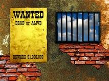 więzienie latticed okno Fotografia Royalty Free