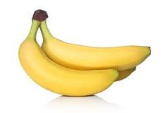 Wiązka banany na biel Obrazy Stock