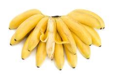 Wiązka banany z otwarty jeden Fotografia Royalty Free