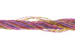 Wiązka barwioni komputerowi druty Zdjęcia Royalty Free