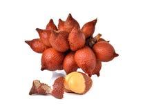 Wiązka salacca owoc na bielu Obraz Royalty Free