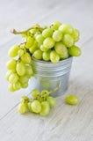 Wiązka winogrona w wiadrze Obraz Stock